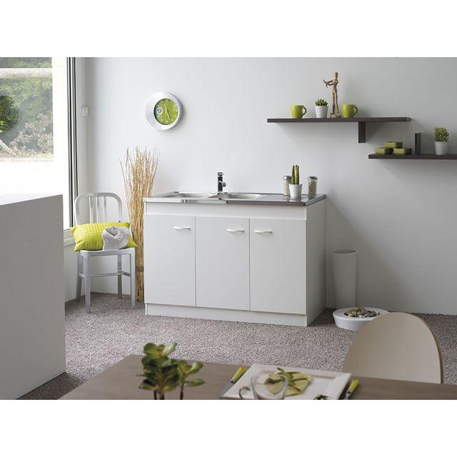 altobuy billa sous evier 3 portes 120cm sebpeche31. Black Bedroom Furniture Sets. Home Design Ideas