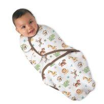 Kiddopotamus - Summer Infant Swaddleme 100% Coton Imprimer La Jungle 0-4 Mois