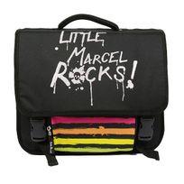 Little Marcel - Cartable 38cm Rock Régular 2 compartiments noir