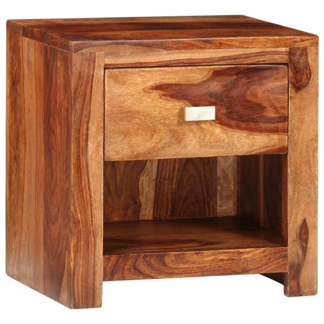 1 tiroir Sesham chevet Table de avec de Bois massif xrthQdsC