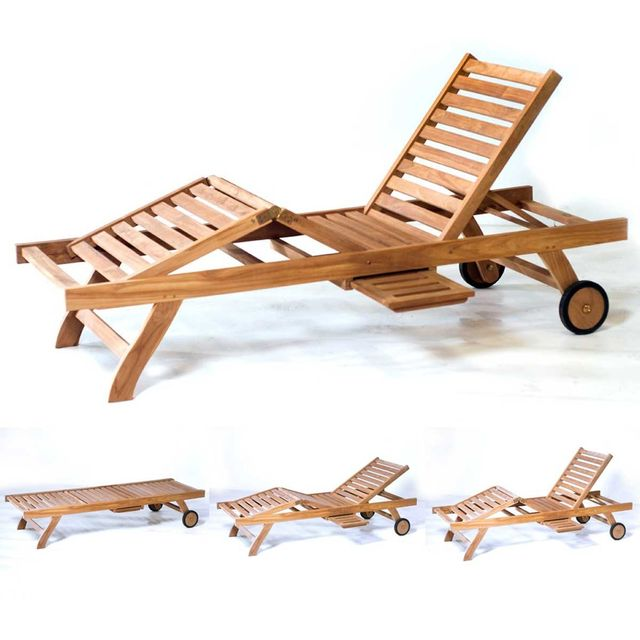 wood en stock bain de soleil en teck pour le jardin. Black Bedroom Furniture Sets. Home Design Ideas