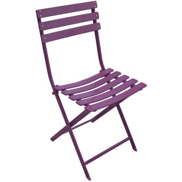 PROLOISIRS Chaise pliante en acier Nonza Lot de 2