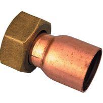 Raccords - Douille droite à joint plat - Filetage 15 x 21 mm - Diam. 16 mm - Par 25
