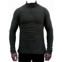 Zargun - T-shirt Polo Col Zippé noir