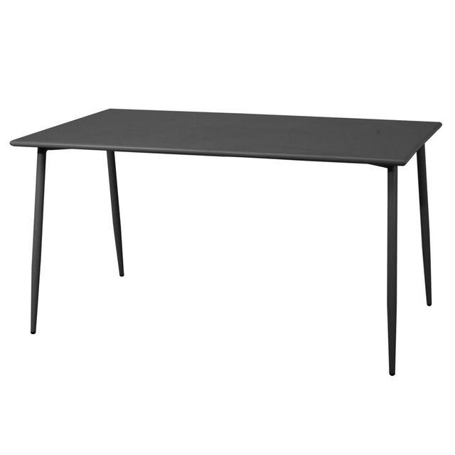 Squareline Table de jardin en acier rectangulaire longueur 140cm Bruge - Anthracite