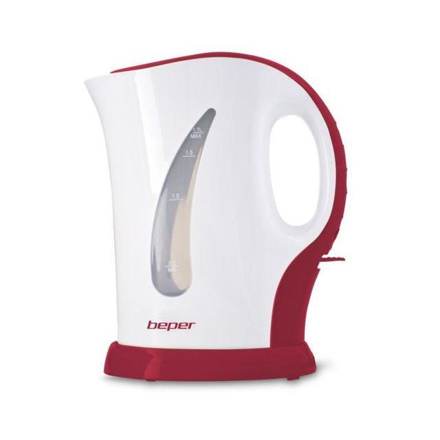 Beper 90.350H Bouilloire électrique - 1,7L - 2200 W - Blanc et Rouge