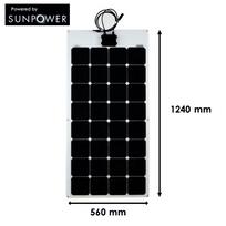 Myshop-solaire - Panneau solaire 100w souple semi-flexible cellules sunpower back-contact