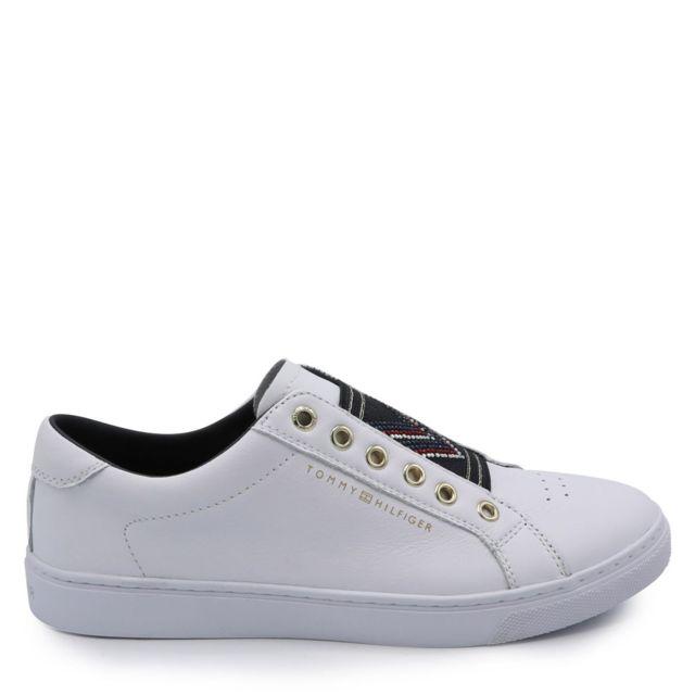 Tommy hilfiger Sneakers basses sans lacets Blanc