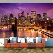 Bimago - A1-F4TNT0432-P - Papier peint - Manhattan et Pont de Blooklyn la nuit 450x270