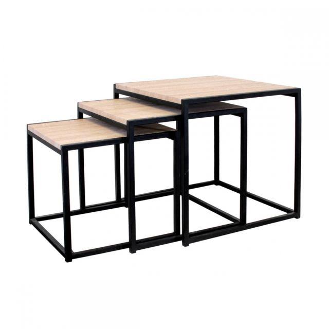 Vente Trio Noir Table Achat Cher Pas Design Ego Basse Gigogne sQrhtd
