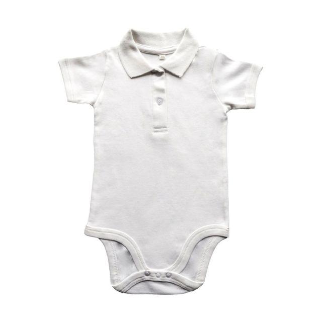 Babybugz - body polo bébé jambes manches courtes - Bz27 - blanc ... c9ca9b0818b
