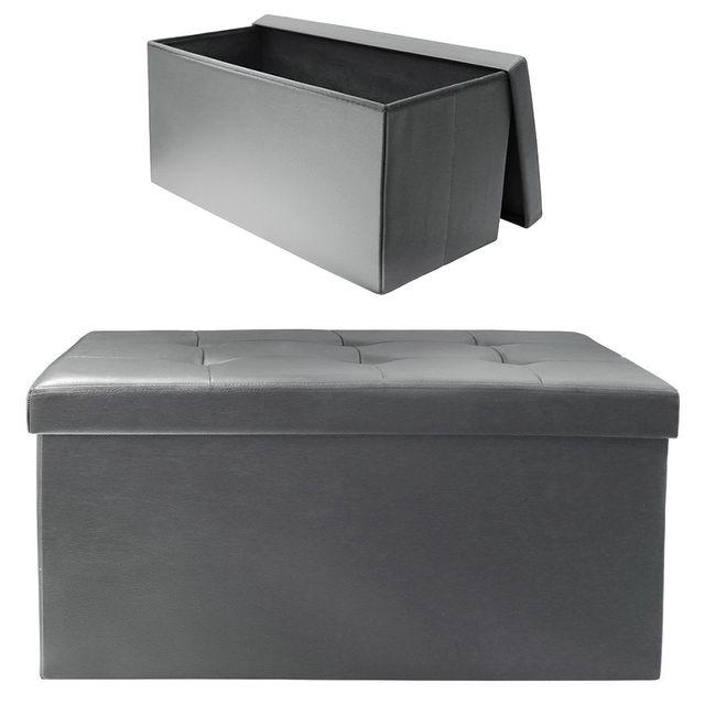 Ego Design Coffre de rangement pliable Arty simili gris