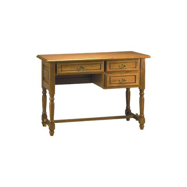 bureau demi ministre 3 tiroirs en ch ne massif sebpeche31. Black Bedroom Furniture Sets. Home Design Ideas