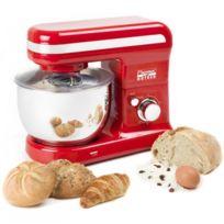 Bestron - Robot ménager - Pétrin de cuisine - Bol en inox - Design rouge