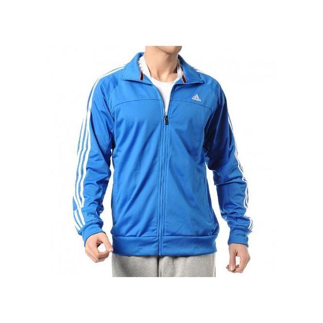 veste adidas homme bleu et blanche