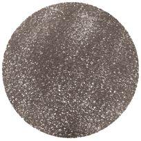 Douceur D'INTERIEUR - Set de table rond 38 cm pvc tortilla gris