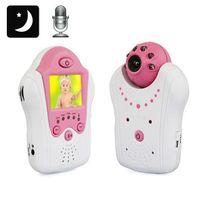 Yonis - Babyphone vidéo babycam vision nocturne surveillance bébé Rose