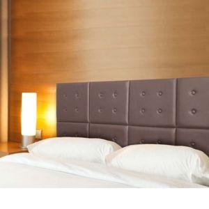 ego design t te de lit capitonn e h tel modulable marron pas cher achat vente t tes de lit. Black Bedroom Furniture Sets. Home Design Ideas