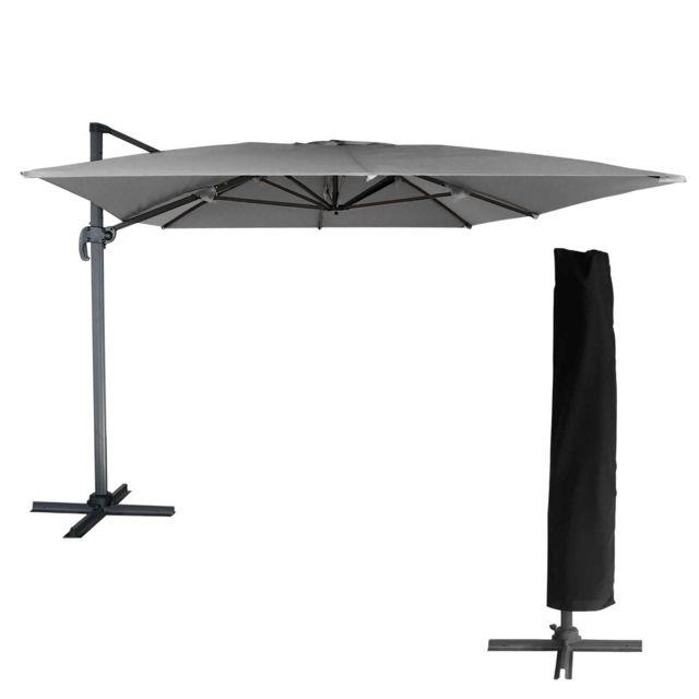 Happy garden parasol d port molokai rectangulaire 3x4m - Parasol deporte rectangulaire 3x4m ...
