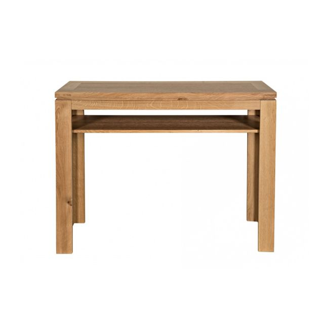 Table Console Extensible Chay Chêne Clair: Bois Chêne Clair Massif
