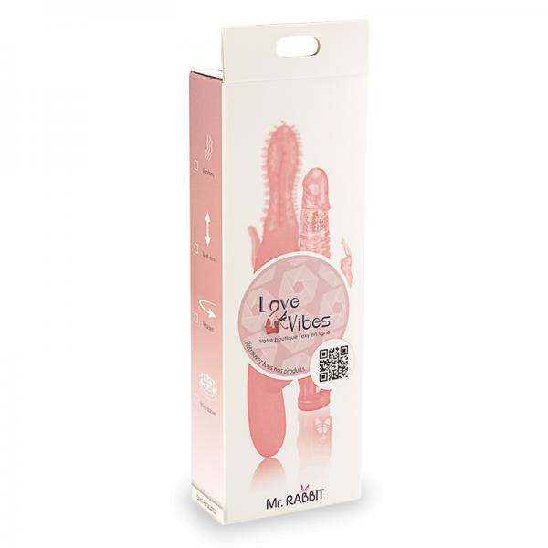 Love And Vibes - Vibro Jack Rabbit Layer Beads-Rose Unisexe