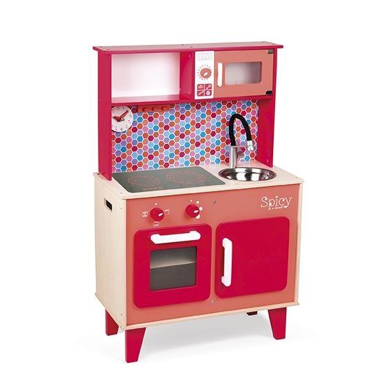 janod maxi cuisine en bois enfant spicy pas cher achat vente cuisine et m nage rueducommerce. Black Bedroom Furniture Sets. Home Design Ideas