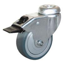 Guitel - Point M - Roulette Uniroll à oeil pivotante à frein 69 x Ø 50 mm - Portée 40 Kg