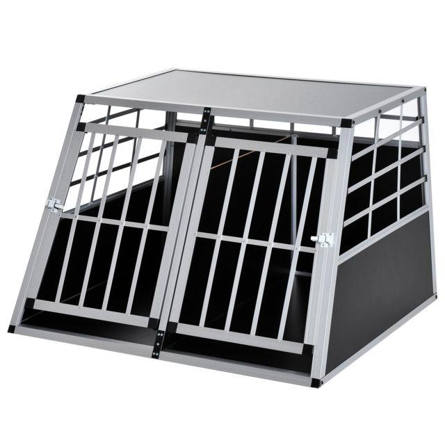 soldes homcom cage de transport pour chien en aluminium noir 104x91x69cm 33 pas cher achat. Black Bedroom Furniture Sets. Home Design Ideas