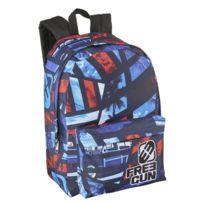FREEGUN - Sac à dos noir, bleu et rouge - 1 compartiment - L 32cm
