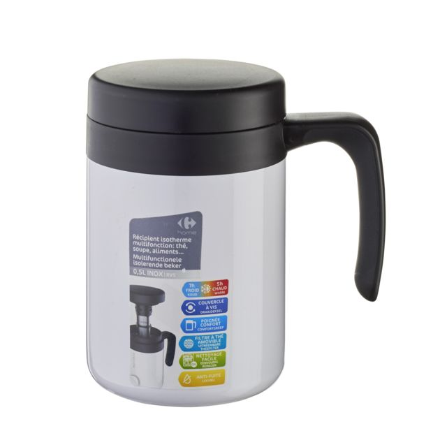 CARREFOUR HOME Mug à soupe multifonction isotherme 500 ml