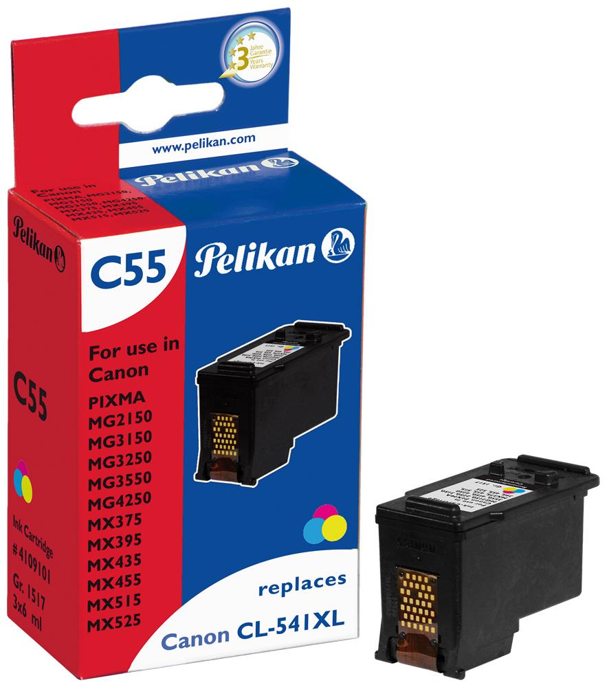 pelikan cartouche d 39 encre pour canon pixma mg 4250 cl 541xl couleur pas cher achat vente. Black Bedroom Furniture Sets. Home Design Ideas