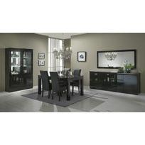 meuble salle manger laque noir - achat meuble salle manger laque ... - Salle A Manger Noire