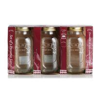 Kilner - Lot de 3 bocaux en verre avec couvercle à visser Preserve