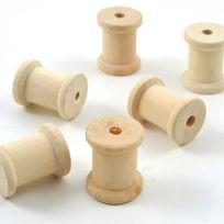 Autre - Mini Bobines en bois x 6