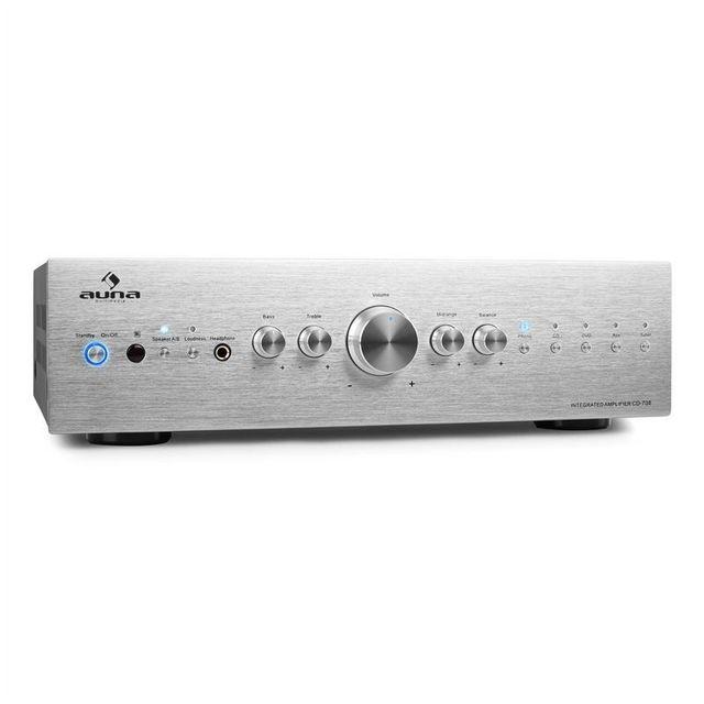 AUNA AV2-CD708 Ampli HiFi stereo -argent