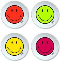 Zak! Design - Set De 4 Assiettes à Dessert 20 Cm Smiley Hot Pop