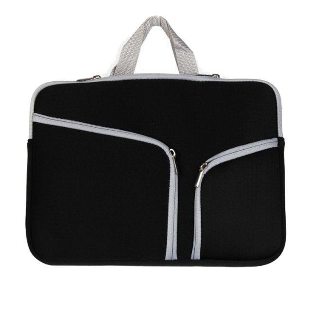 b7a259b346 Wewoo - Sacoche pour ordinateur portable noir Macbook Air 11,6 pouces  Double Pocket Zip