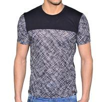 Celebrytees - En Solde - Celebry Tees - T Shirt Mc - Homme - Rayures - Noir