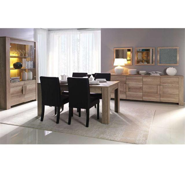 CHLOE DESIGN Table à manger design MANUEL - Bois - 180