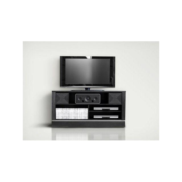 Vox Meuble Tv Design Gain De Place Classic Chene Fonce Avec