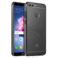 Avizar - Coque Huawei P Smart Coque souple Silicone Gel coin renforcée - Transparente