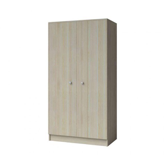 TERRE DE NUIT Armoire enfant 2 portes en bois frêne clair - AR4024