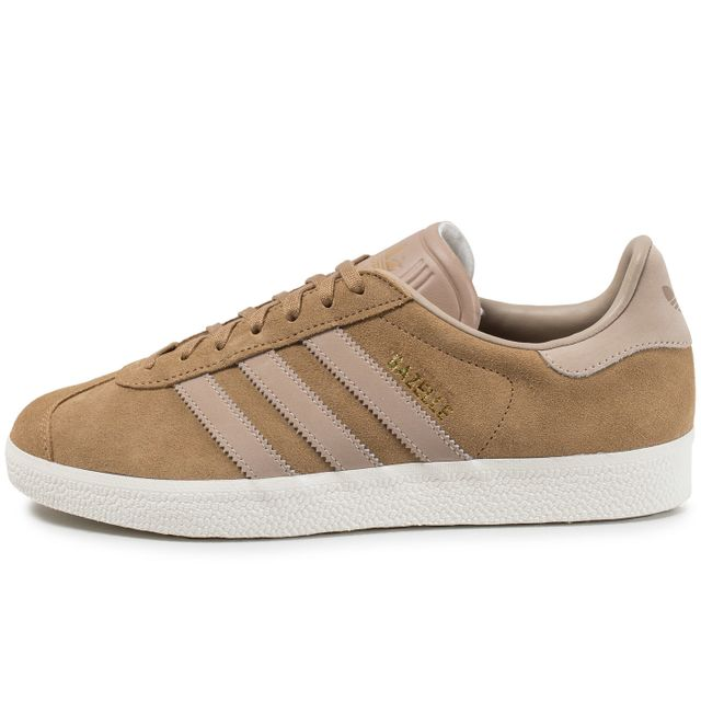 Adidas originals - Gazelle Marron Clair Beige - 46 - pas cher Achat / Vente Baskets homme - RueDuCommerce