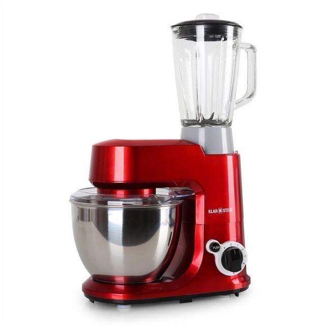 KLARSTEIN Set Carina Rossa 800W Robot de cuisine mixeur 1,5L