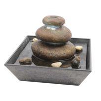 Lumineo - Fontaine Intérieure Pyramide Pierre 22 cm