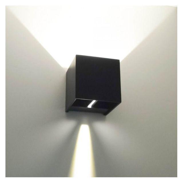 Kosilum Applique Led Design Cubic Noire Pas Cher Achat Vente