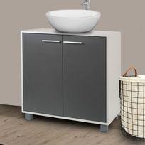 meuble sous vasque bois portes grises Résultat Supérieur 15 Unique Meuble sous Vasque De Salle De Bain Stock 2017 Kgit4