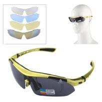 Wewoo - Pour Tir   Cyclisme   jaune Ski   Golf Lunettes de soleil Uv400  Sport a67a169e066e
