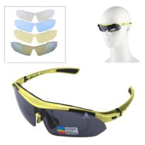 160dca147a16f4 Wewoo - Pour Tir   Cyclisme   jaune Ski   Golf Lunettes de soleil Uv400  Sport