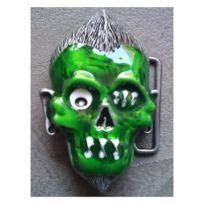 Universel - Boucle de ceinture Lucky 13 zombie vert rockab homme ... af875979b32